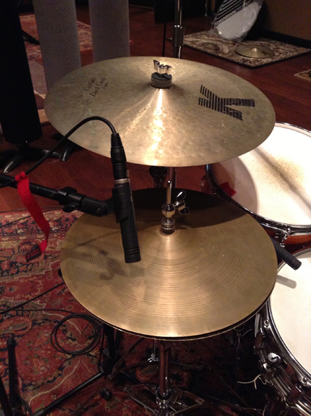 3. Hi-hat placement using a Neumann U87.
